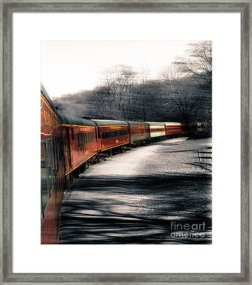 There's A Train A Comin' Somewhere Around The Bend Framed Print by Steven  Digman