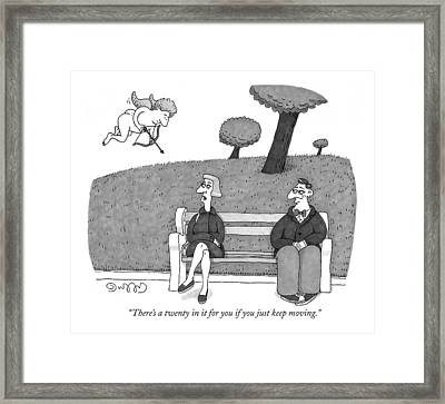 There's A Twenty In It For You If You Just Keep Framed Print by J.C.  Duffy