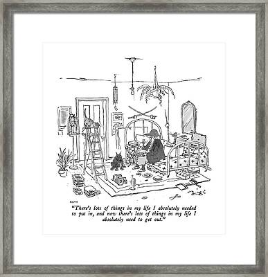 There's Lots Of Things In My Life I Absolutely Framed Print by George Booth