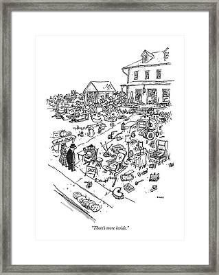 There's More Inside Framed Print by George Booth