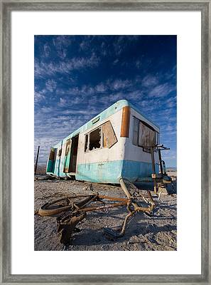Theres My Bike Framed Print by Scott Campbell