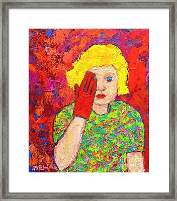 There's No Comfort In The Truth Framed Print by Ana Maria Edulescu