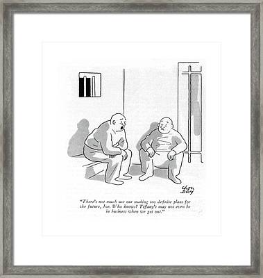 There's Not Much Use Our Making Too De?nite Plans Framed Print by Chon Day