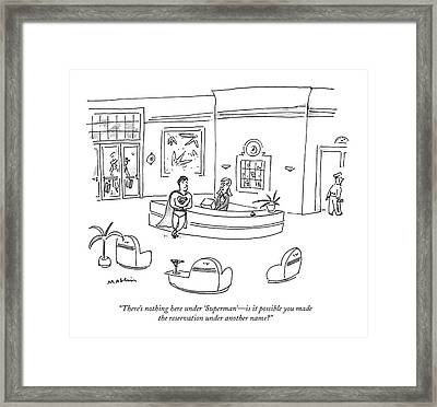 There's Nothing Here Under 'superman' - Framed Print by Michael Maslin