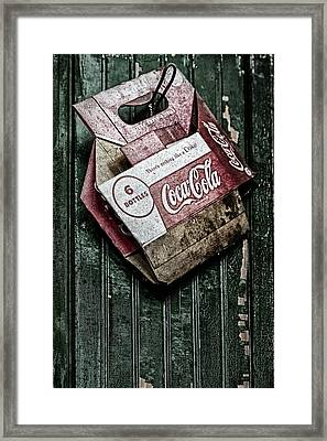 Theres Nothing Like A Coke Framed Print by Susan Candelario