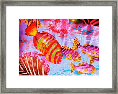 There's Something Fishy Goin' On   Framed Print by Anne-Elizabeth Whiteway