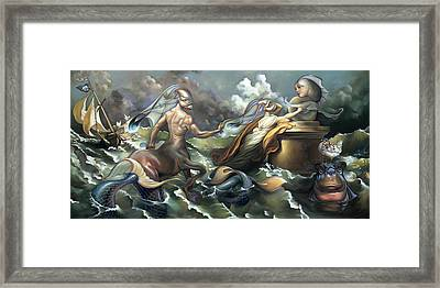 There's Something Fowl Afloat Framed Print by Patrick Anthony Pierson