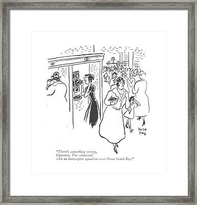 There's Something Wrong Framed Print by Robert J. Day