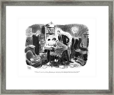 There's Such A Thing Framed Print by Richard Decker