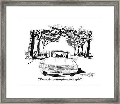 There's That Raised-eyebrow Look Again! Framed Print by Mischa Richter