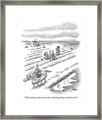 There's The Guy Who Deserves The Credit Framed Print by Frank Cotham