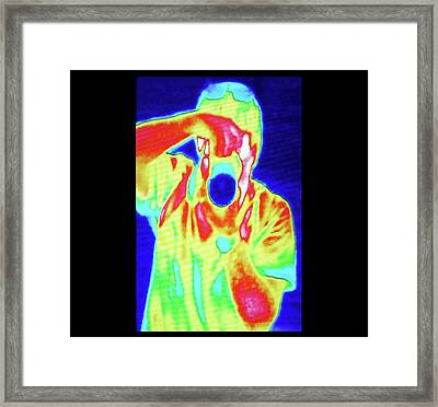 Thermal Camera Self Portrait Framed Print