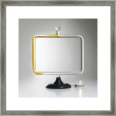 Thermal Convection Experiment Framed Print by Science Photo Library