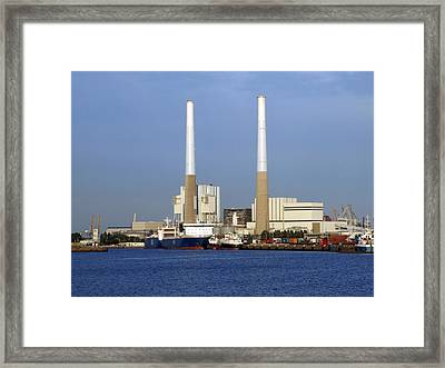 Thermal Power Station, France Framed Print by Science Photo Library