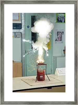 Thermite Reaction Demonstration Framed Print by Trevor Clifford Photography