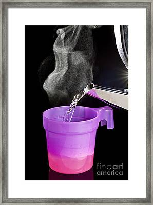 Thermochromatic Plastic Cup Framed Print