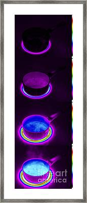 Thermograms Of Heating Up Water Framed Print by GIPhotoStock