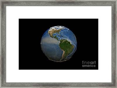 Thermohaline Circulation, Artwork Framed Print