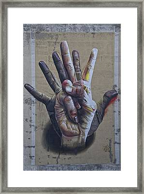 These Are The Hands . . . Framed Print