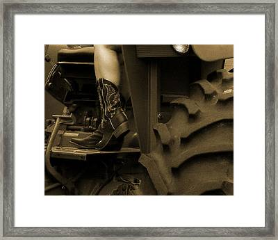 These Boots 1 Sepia Framed Print
