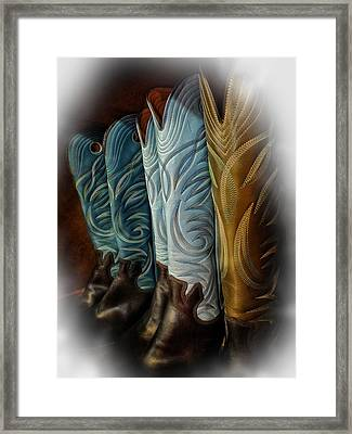 These Boots Are Made For Anything Framed Print