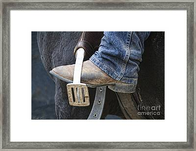 These Boots Are Made For Working Framed Print