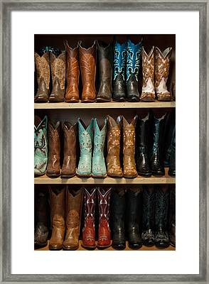 Framed Print featuring the photograph These Boots Were Made For Walking by Jani Freimann