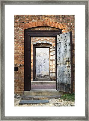 These Doors Lead To Nowhere Framed Print