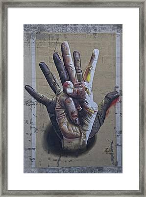 These Hands Framed Print by Joachim G Pinkawa