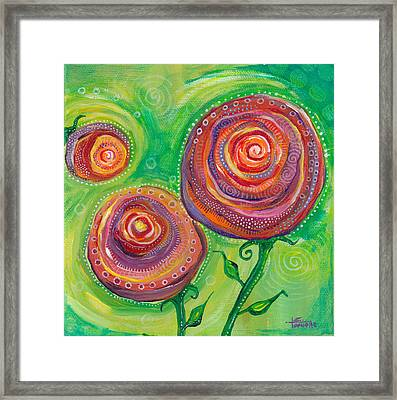 These Roses Are Forever Framed Print by Tanielle Childers