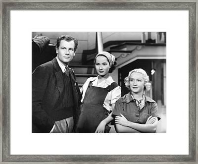 These Three, From Left, Joel Mccrea Framed Print by Everett