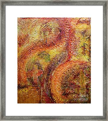 Framed Print featuring the painting These Three Remain by D Renee Wilson