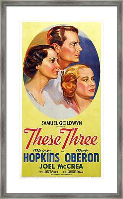 These Three, Us Poster, From Left Merle Framed Print by Everett