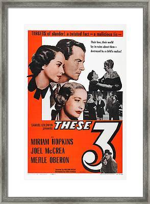 These Three, Us Poster, Heads From Left Framed Print by Everett