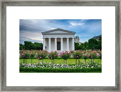 Theseus Temple In Roses Framed Print by Viacheslav Savitskiy