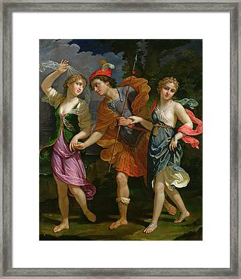 Theseus With Ariadne And Phaedra, The Daughters Of King Minos, 1702 Framed Print