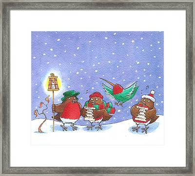 They Always Forget The Words Framed Print by Peter Adderley