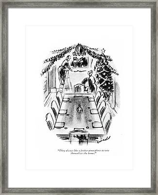 They Always Like A Festive Atmosphere To Vote Framed Print