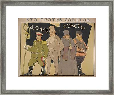They Are Against The Soviets Framed Print by British Library
