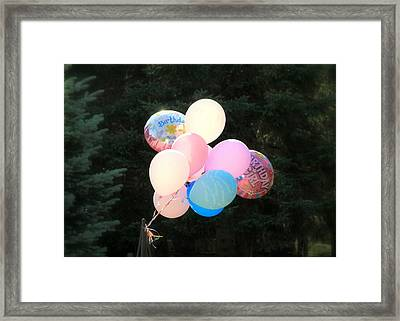 They Are Floating Framed Print by Valentino Visentini