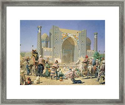 They Are Triumphant, 1871-72 Oil On Canvas Framed Print by Vasili Vasilievich Vereshchagin
