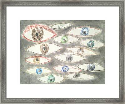 They Are Watching You Framed Print by Judith Moore
