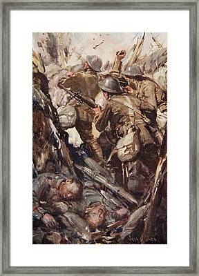 They Bombed And Bayoneted Their Way Framed Print by Cyrus Cuneo