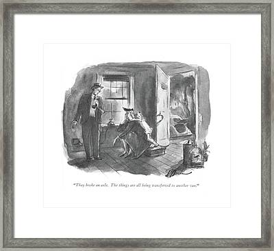 They Broke An Axle. The Things Are All Framed Print by Perry Barlow