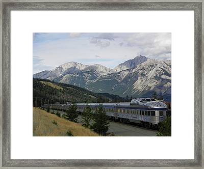 They Came By Rail Framed Print