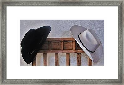 Framed Print featuring the photograph They Came Off When You Entered A Home by John Glass