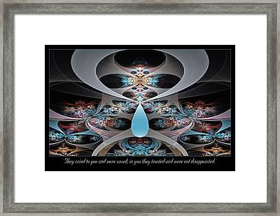 They Cried To You Framed Print