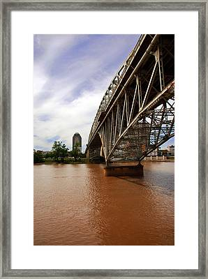 They Don't Call It Red River For Nothing Framed Print by Max Mullins