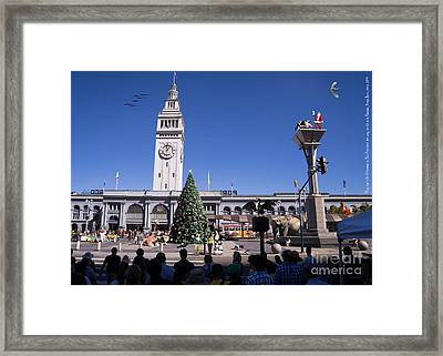 They Dont Do Christmas In San Francisco The Way We Do It In Kansas Betsy Jane Dsc1745 Framed Print by Wingsdomain Art and Photography