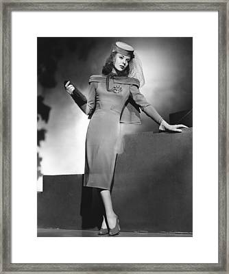 They Drive By Night, Ida Lupino, Warner Framed Print